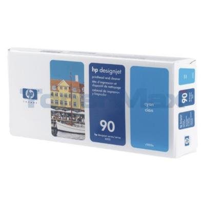 HP DESIGNJET 4000 NO 90 PRINTHEAD AND CLEANER CYAN 